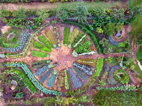 jardin mandala - ferme du Bec Hellouin